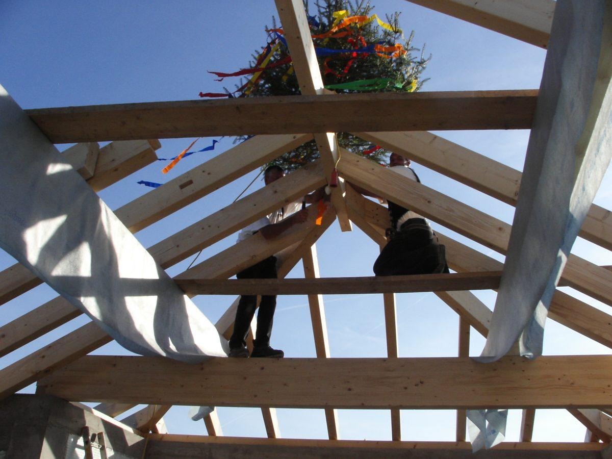 Richtfest Schöckel Holzbau Bedachungen